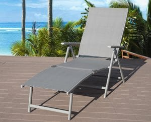 ... Zero Gravity Outdoor Chair. Kozyard Cozy Aluminum Beach Yard Pool  Folding Reclining Adjustable Chaise Lounge Chair Review